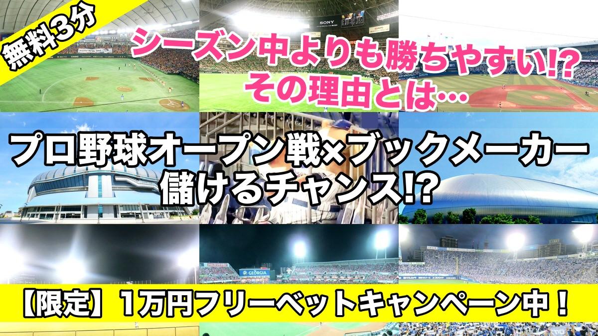 プロ野球オープン戦×ブックメーカーで賭ける=儲けるチャンス!?