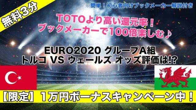 【EURO2020】トルコVSウェールズ試合予想オッズ,成績ランキングは!?グループA組第2節