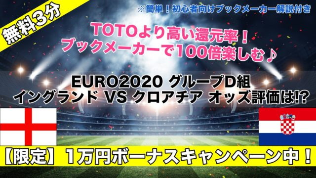 【EURO2020】イングランドVSクロアチア試合予想オッズ,成績ランキングは!?グループD組,好カード